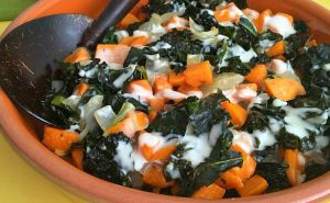 Oven Roasted Sweet Potatoes and Kale - AverageBetty.com