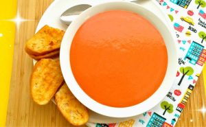 Super Easy Tomato Soup Recipe Video - AverageBetty.com